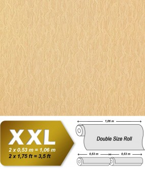 Wallpaper fabric textile look EDEM 930-32 luxury heavyweight non-woven safron-yellow gold shimmer 10,65 sqm (114 sq ft)