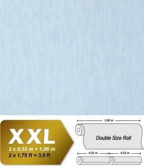 Plain wallpaper non-woven EDEM 908-01 luxury vintage fabric textile look light blue turquoise | 10,65 sqm (114 sq ft)