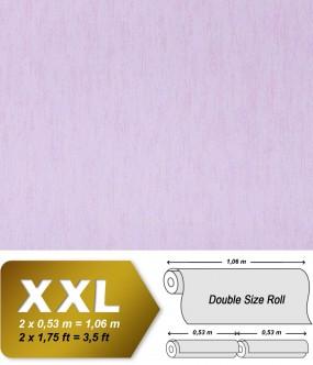 Plain wallpaper non-woven EDEM 908-05 luxury vintage fabric textile look pastel lilac violet | 10,65 sqm (114 sq ft)