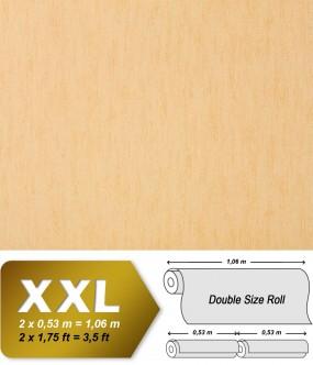 Plain wallpaper non-woven EDEM 908-06 luxury vintage fabric textile look pastel orange apricot | 10,65 sqm (114 sq ft)