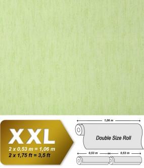 Plain wallpaper non-woven EDEM 908-08 luxury vintage fabric textile look pastel green applegreen | 10,65 sqm (114 sq ft)