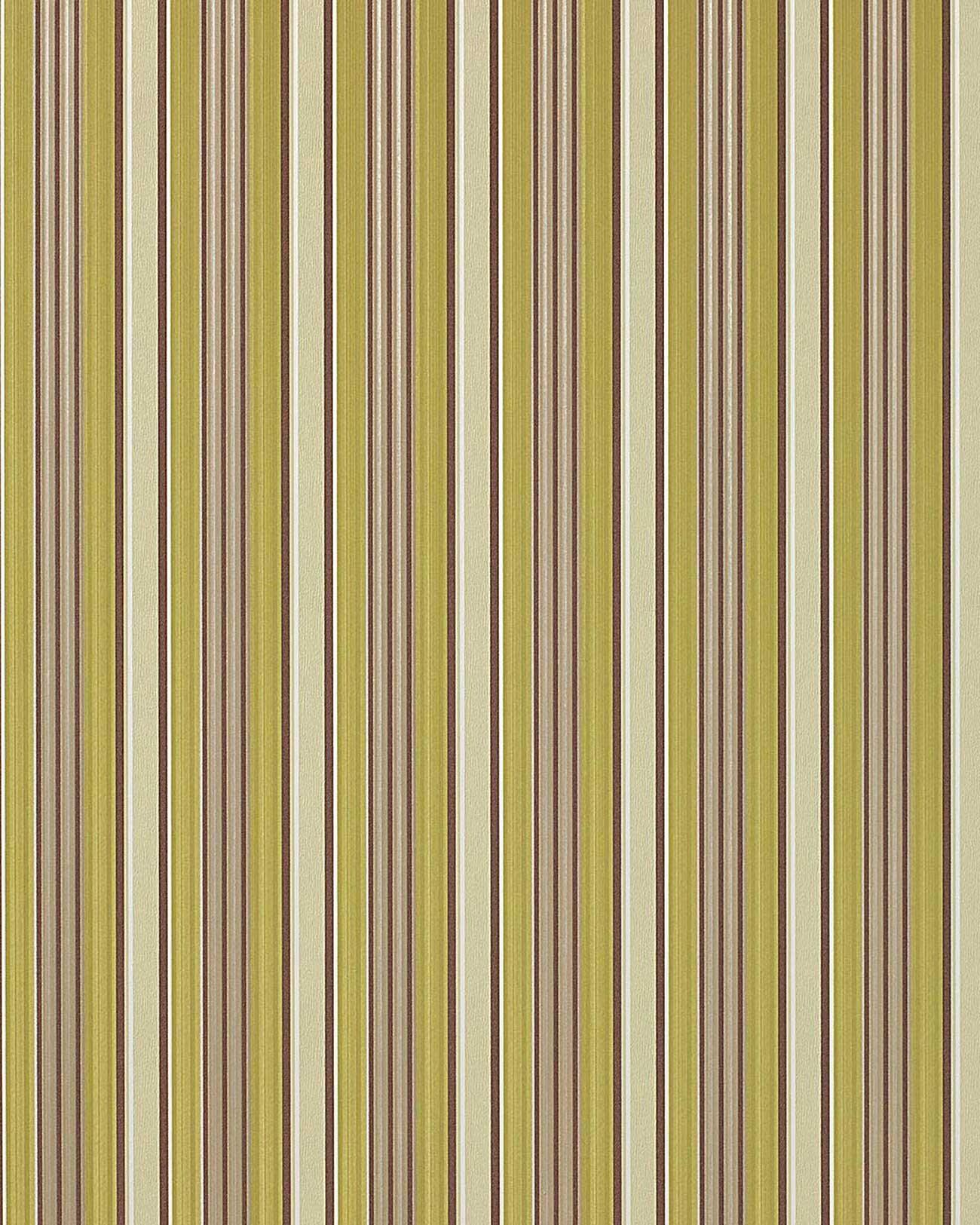 Papier peint de luxe ray couleur edem 825 28 brillant ivoire brun chocolat vert gris 70 cm for Papier peint luxe
