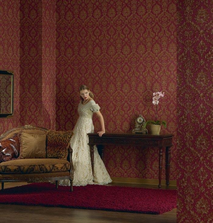 barock tapete edem 708 38 hochwertige pr ge tapete klassisch damask ornament edel gr n gold. Black Bedroom Furniture Sets. Home Design Ideas