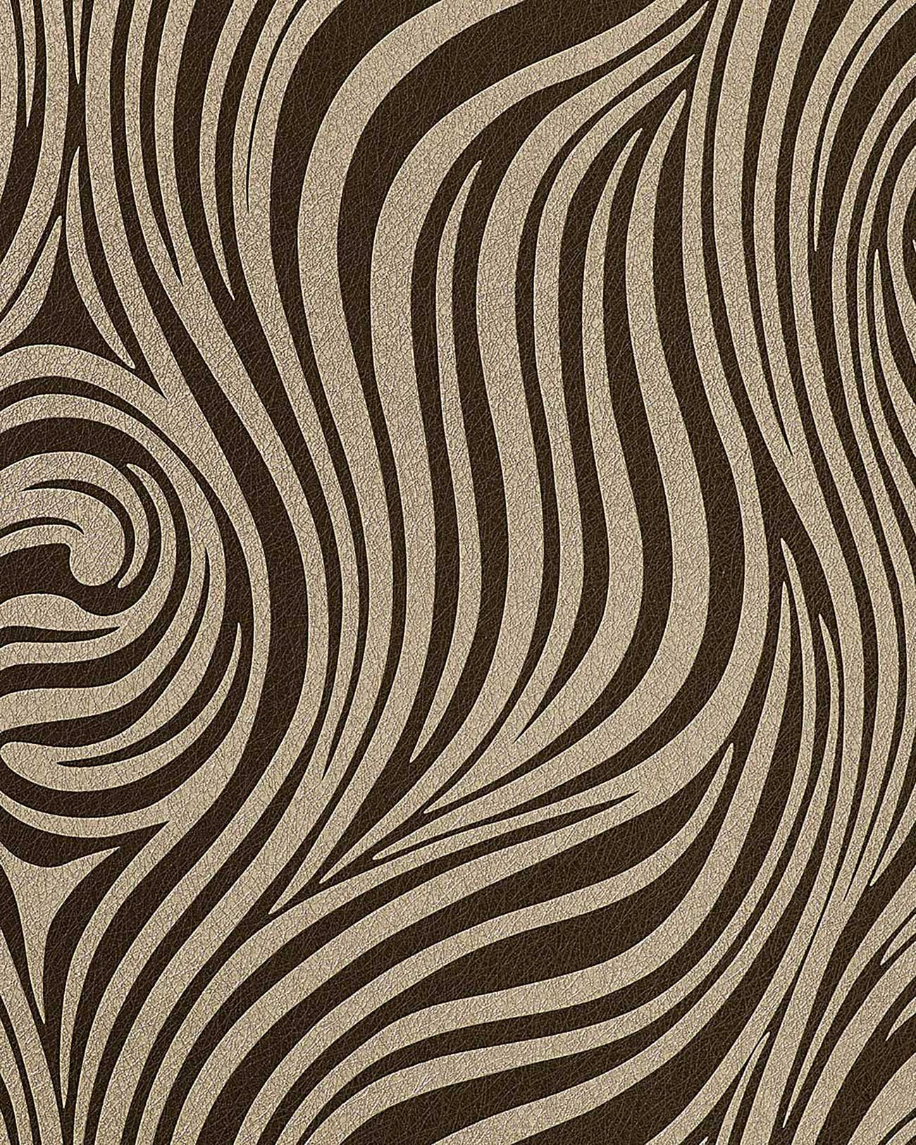 Fashion zebra style wallpaper wall edem 1016 13 texture for Brown wallpaper for walls