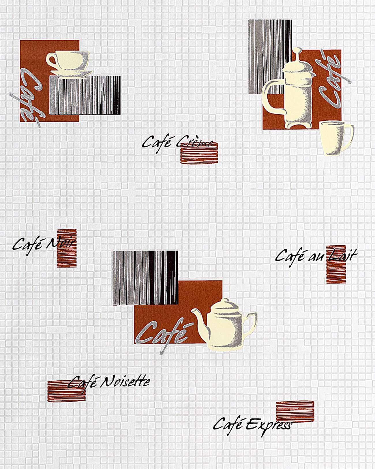 EDEM 062 20 Carta Da Parati Caffé Piastrelle Mosaico Per Cucina E  #8C3718 1300 1625 Piastrelle Cucina Con Disegni Frutta
