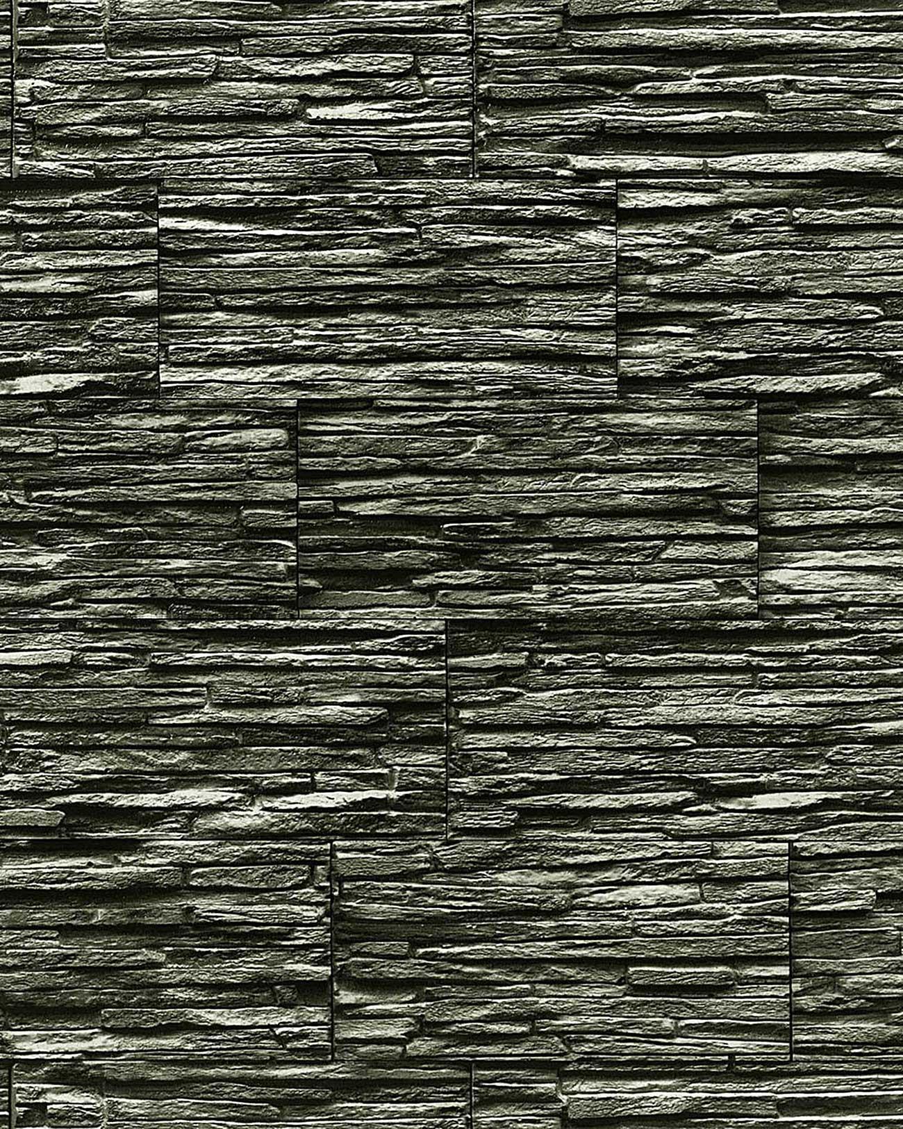Papier peint quartzite ardoise en relief 1003-34 vinyle ...