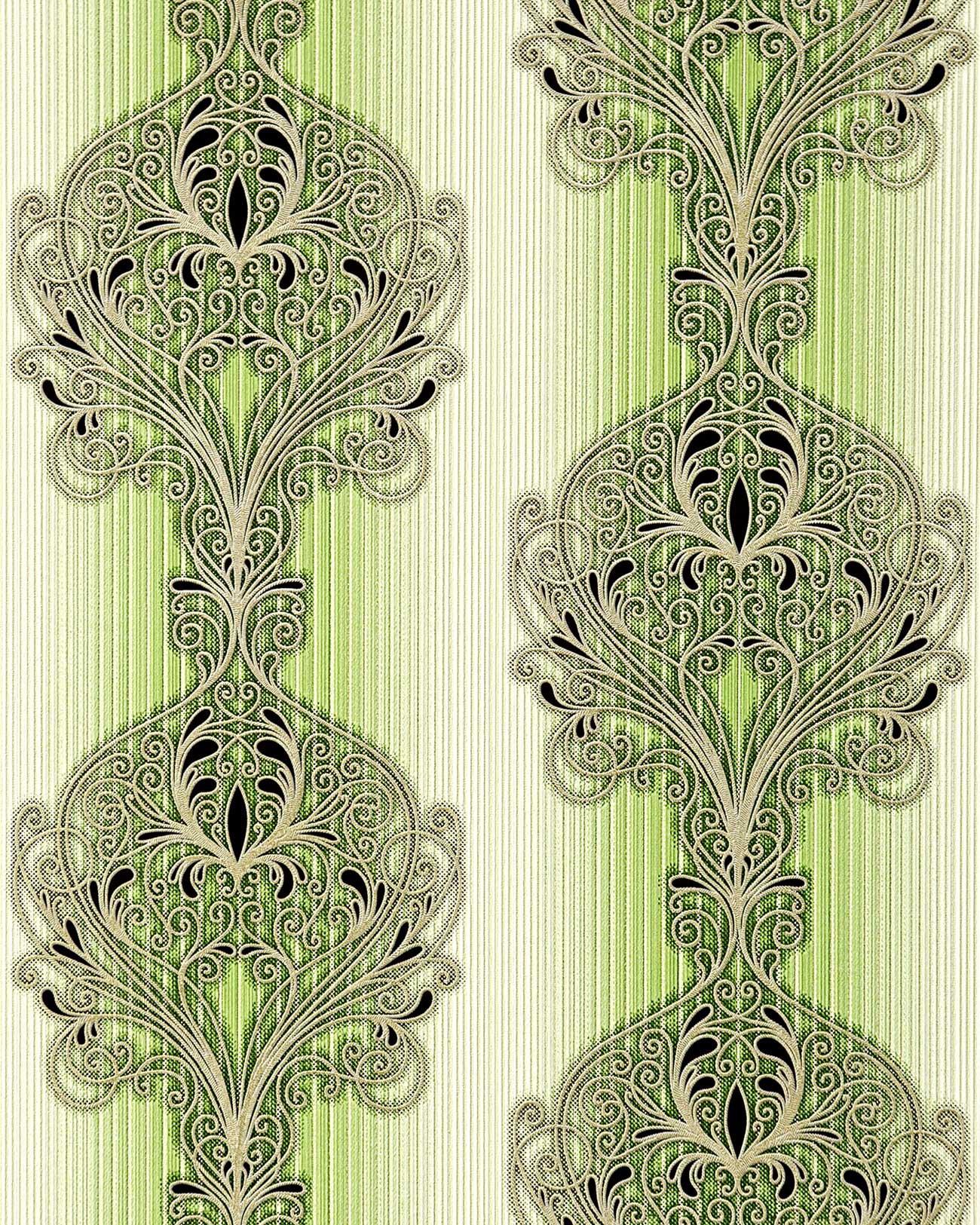 Barock Tapete Schwarz Wei? : Barock Tapete EDEM 096-25 Tapete Damask moderne prunkvolle Ornament