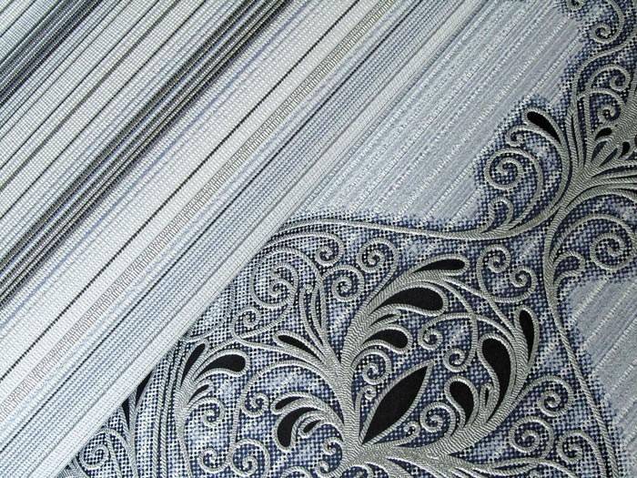 Papier peint en vinyle dessin rayures splendides edem - Papier peint raye gris blanc ...