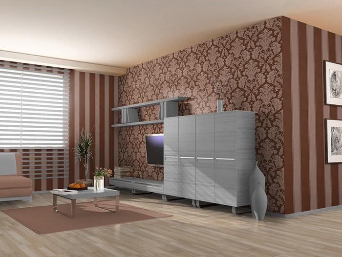 tapete schlafzimmer braun. Black Bedroom Furniture Sets. Home Design Ideas