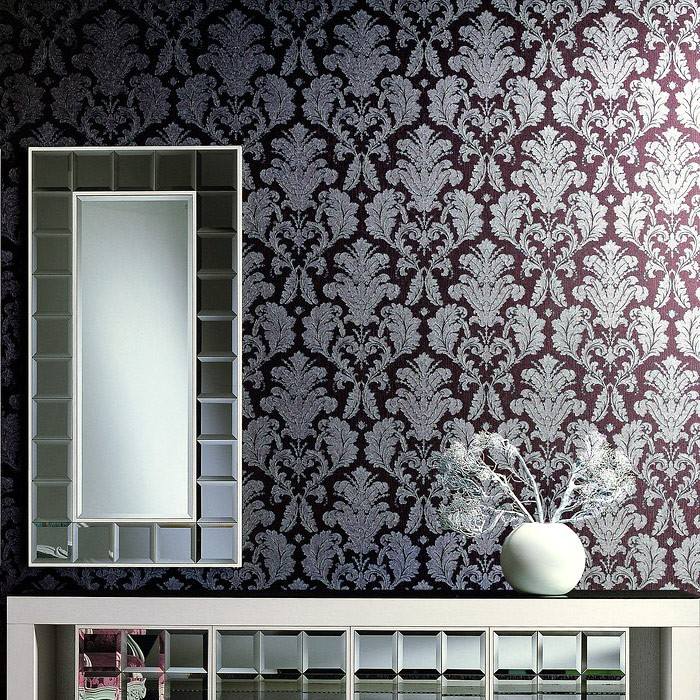 Barock tapete edem 752 37 luxus neo klassik tapete for Tapete ornament blau
