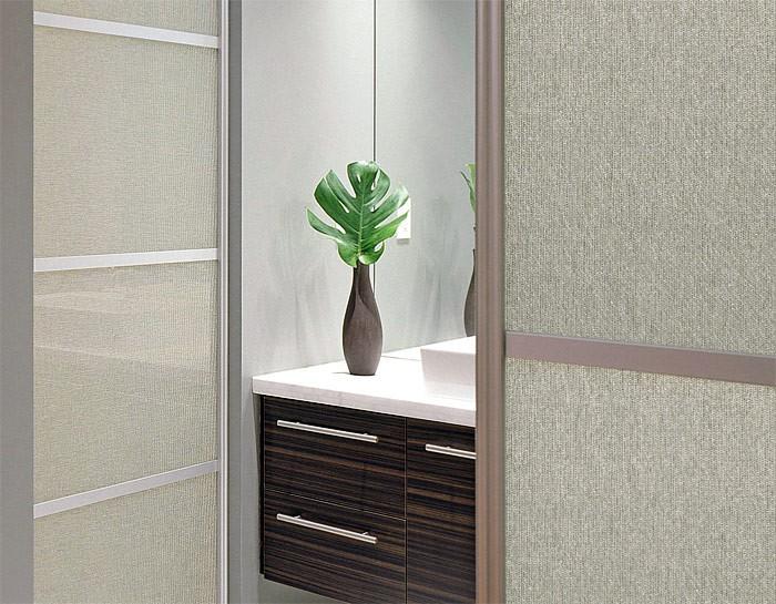 panneau mural adh sif aspect verre wallface 18590 deco sahara structure textile toile de lin. Black Bedroom Furniture Sets. Home Design Ideas