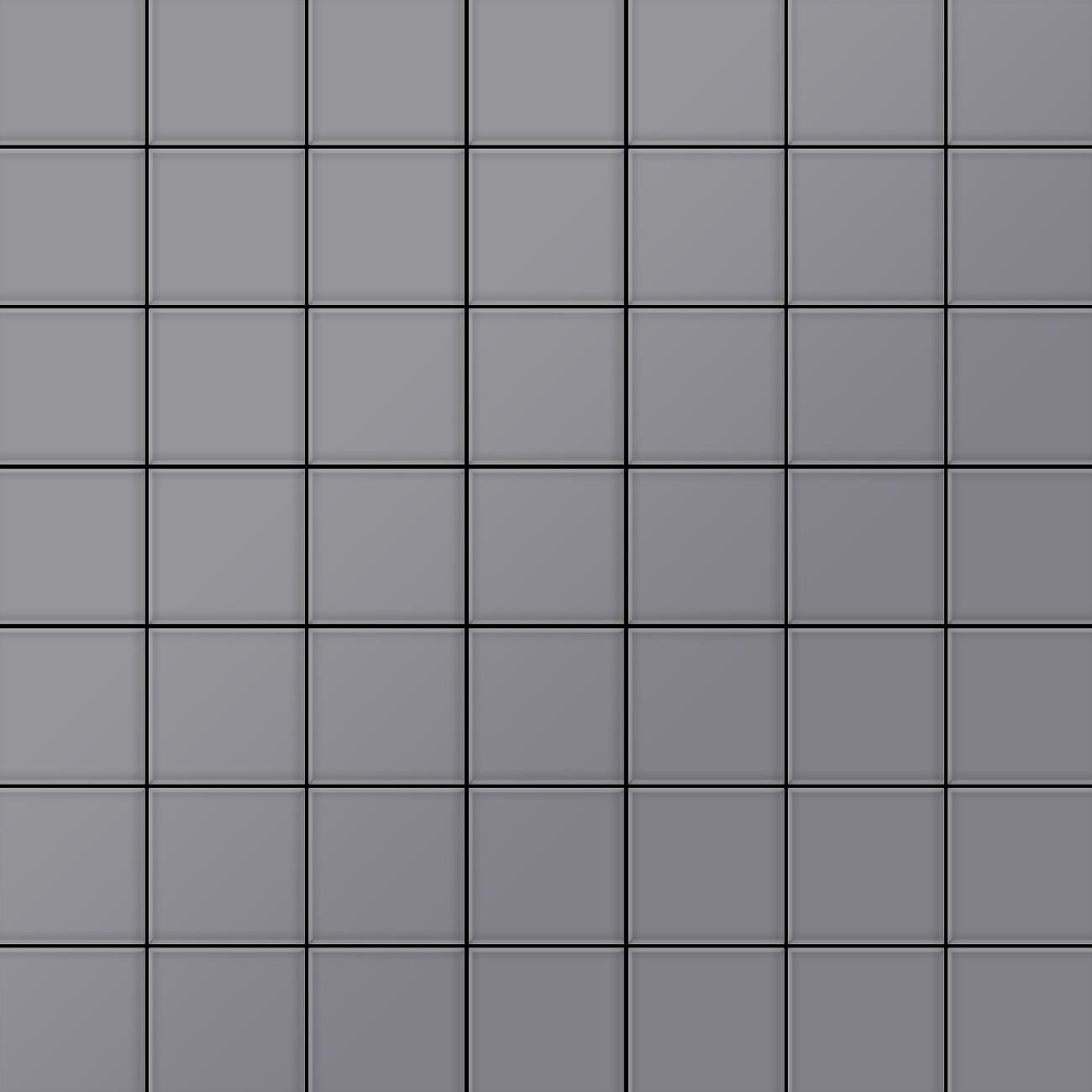 Mosa que m tal massif carrelage acier inoxydable matt gris for Carrelage mosaique gris