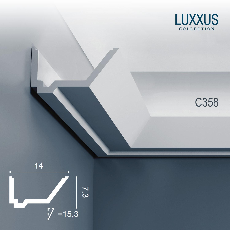 Corniche moulure cimaise orac decor c358 luxxus pour clairage indirect d cor - Corniche pour eclairage indirect ...