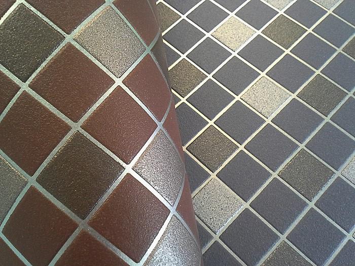 Papier peint de cuisine en mosa que edem 1022 14 aspect - Peinture carrelage argent ...