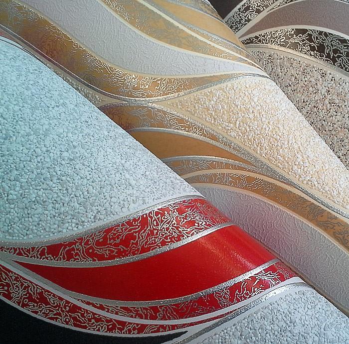 papier peint graphique edem 1025 11 aspect cr pi granit mouchet lignes ondul es et ornements. Black Bedroom Furniture Sets. Home Design Ideas