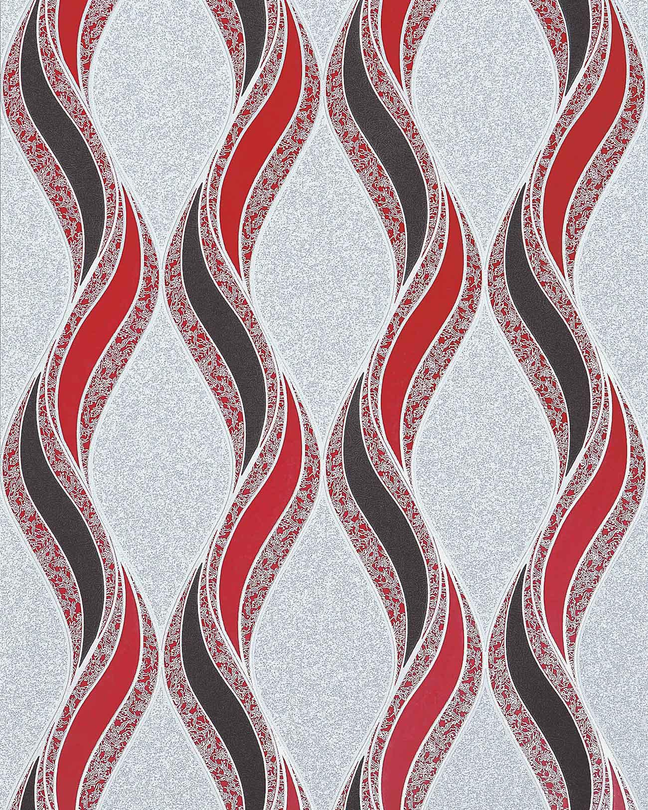 papier peint graphique edem 1025 14 aspect cr pi granit mouchet lignes ondul es et ornements. Black Bedroom Furniture Sets. Home Design Ideas