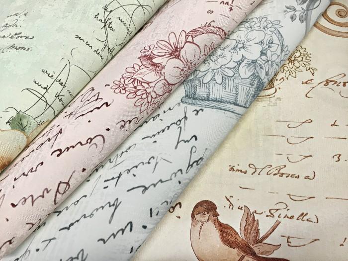 papier peint style country intiss xxl edem 904 17 aspect romantique fleurs oiseaux bleu bleu. Black Bedroom Furniture Sets. Home Design Ideas