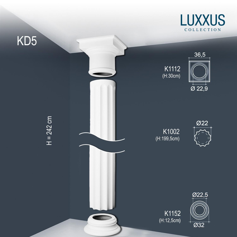 Colonne jeu complet colonne d corative orac decor kd5 for Colonne decorative exterieur