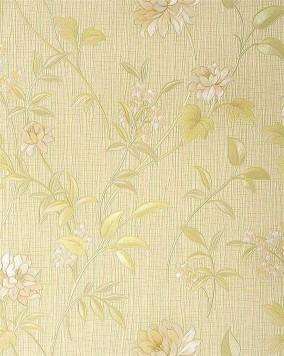 Papier peint haut de gamme motif edem 751 33 floral style asiatique jaune pas - Papier peint asiatique ...