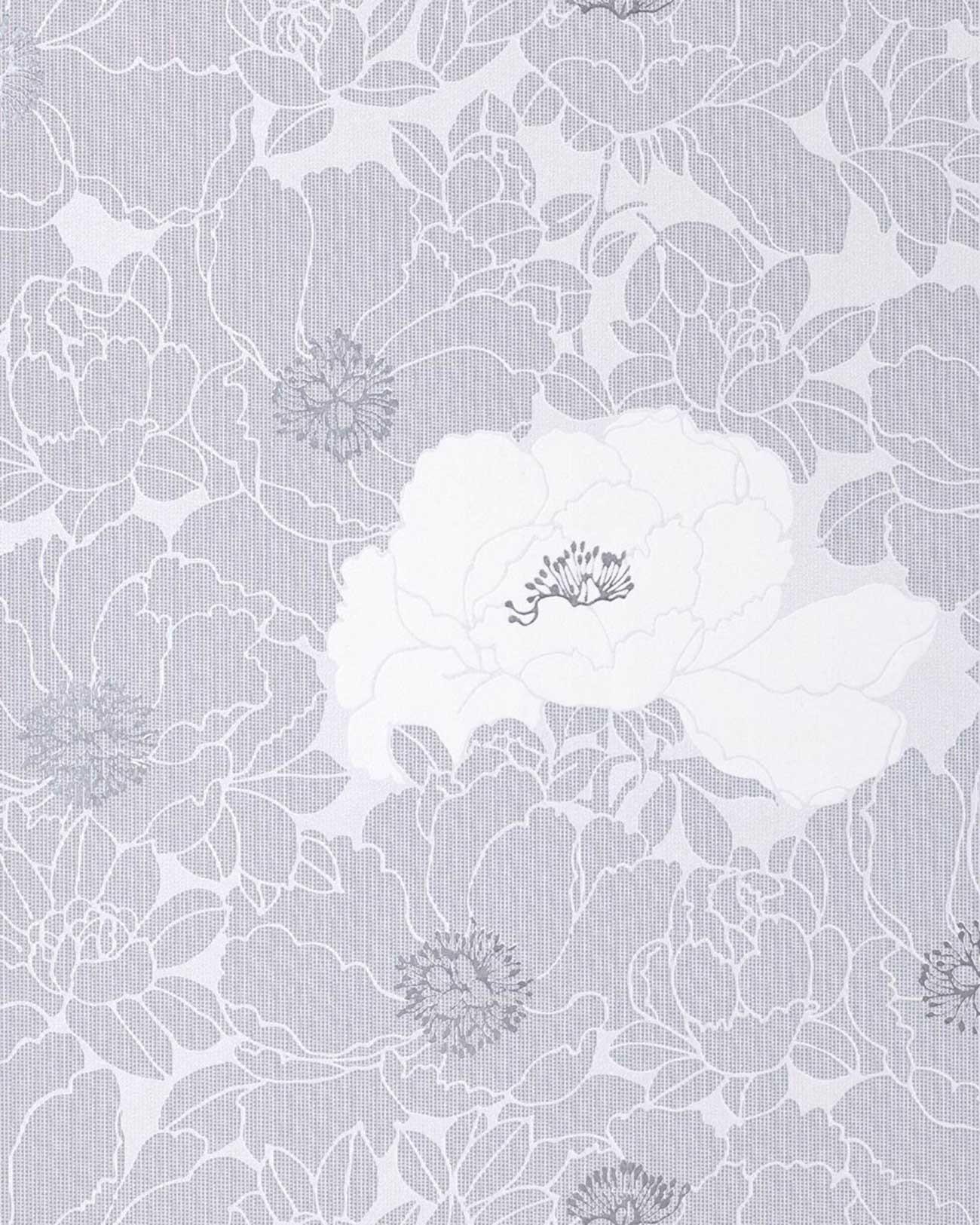 Papier peint en relief design motif floral edem 025 26 for Papier peint raye gris et blanc