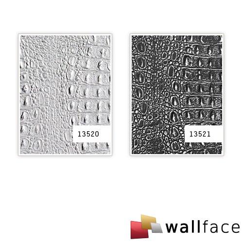 Croco design rev tement mural auto adh sif wallface 13520 for Revetement mural simili cuir