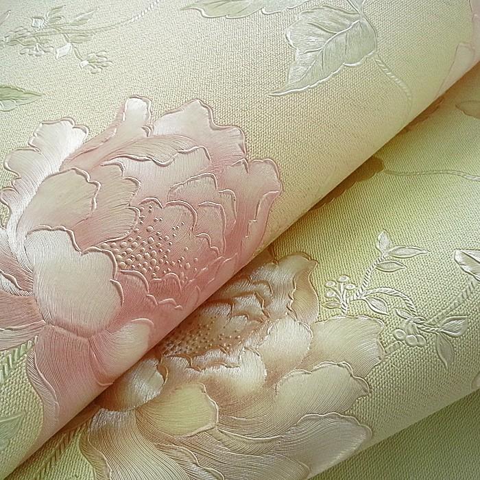 papier peint floral edem 748 31 avec effet 3d gaufr en. Black Bedroom Furniture Sets. Home Design Ideas