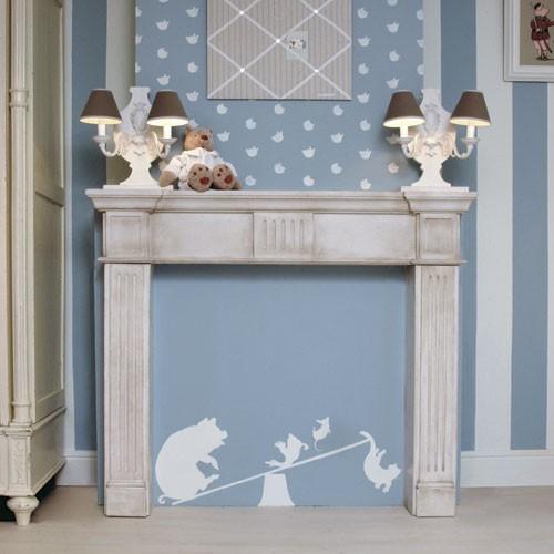 LUXXUS Cheminée décorative Orac Decor H101A Manteau de cheminée ...