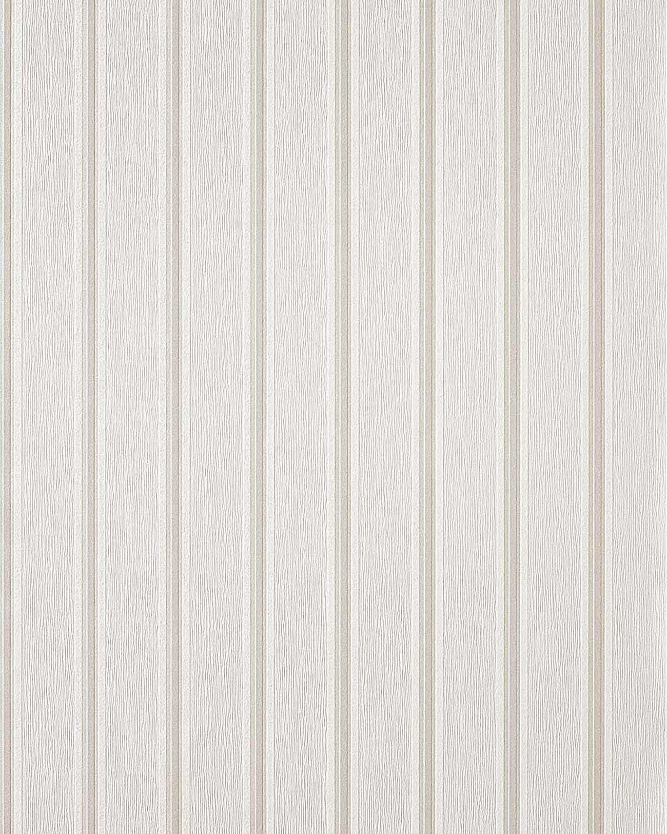 Papier peint de bon go t ray edem 112 30 blanc cr me for Papier peint raye gris et blanc